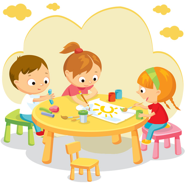 Детские занятия творчеством в мини-саде в Мурманске